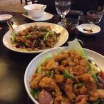 Sweet & Sour chicken and chilli prawns