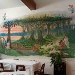 Mural del restaurante