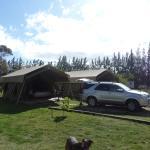 The safari tents