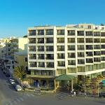 Aerial View of Blue Sky City Beach Hotel in Rhodes town