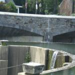 Man-made water fall
