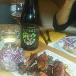 Ribs and Lupulus beer