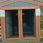 Outhouse at campground in Pangnirtung