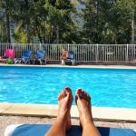 Entre randonnées , détente à la piscine de la résidence.