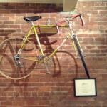 Bike on the wall.
