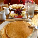 Chicken Fried Steak, Fruit, and Buttermilk Pancakes