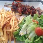 Brochette poulet tomate confite