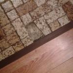 Broken tile on floor