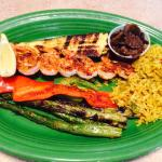 Grilled veggies and shrimp!