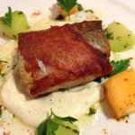 Trout, Dungeness Crab, Smithfield Ham, Melon