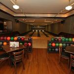 Four antique bowling lanes