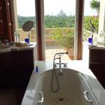 Taj Mahal view from the bathtub.