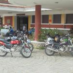 Our bikes outside Dalat Railway Station