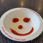 The smiley face from GREAT waitress named Joy!
