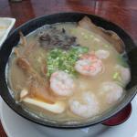 Tonkutzu Ramen with shrimp added