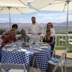 Chef prepared a great lunch for us and the winemaker