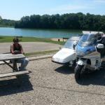 big lake and picnic area