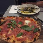 Mains! Pizza - and the Ravioli which btw is sprnkled with loads of shaved TRUFFLES!