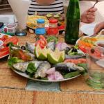 Sardines et calamars (restaurant délices & saveurs)