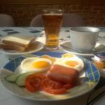 Breakfast: eggs sunny side up