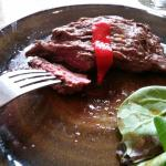 Absolutely the best cut of meat I've had in London.  Their flank is beautiful.  Service is a ple