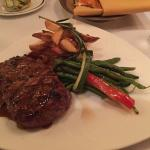 NY Strip, duck fat fries, & haricots verts