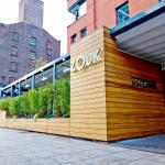 Zouk restaurants' all weather terrace in Manchester.  Surrounded by exotic plants & bamboo cladd