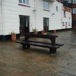 room 1 on left with bench outside on harbour