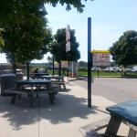 Dogs N Suds Picnic Tables & Phone Booth