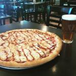 BBQ Chicken Pizza & Beer