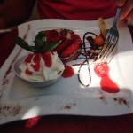 Tarte aux fraises goûteuses, superbe, non? Et très bonne