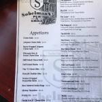 Food menu (front side)