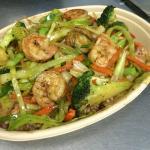 Jerk Shrimp salad