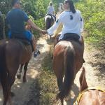riding through the trail