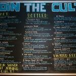 The CULT beer club offers a members-only secret menu and perks, rewards with beer tasting and mo