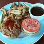 Pulled Chicken fully loaded with fries and gravy: 5 generations of our family have loved these!