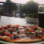 Devoured this amazing pizza at Brewery Arts Centre in Kendal