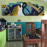 Legends Cafe interior. Mural depicts Samoa's most famous legend