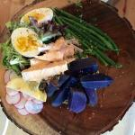 Beautifully-plated, and colorful Salade Nicoise
