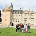 Our family at the Brodie Castle in Brodie (personalized tour)