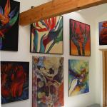 Shera's art gallery is a special treat of vibrant colours
