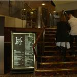 Entrance up to The Loft Bar & Bistro