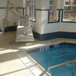 Pool and jacuzzi have handicap access lifts.