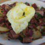 Yummy Corned Beef Hash with an egg