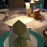 雰囲気のいい夕食の食卓