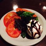 Burrata with fresh tomatoes and balsamic glaze was so wonderful!
