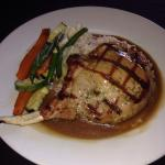 Stuffed Grilled Pork Chop!!!! So delicious!