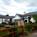 The Crown and Anchor, Lugwardine showing the lovely garden.