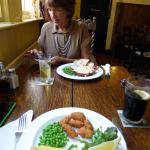 £5 light lunches, scampi and Chips plus fishpie with bread