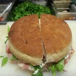 Special of the Week.HERBED PARMACOTTO (Seasoned Ham Imported from italy) BUFALA RICOTTA(Imported